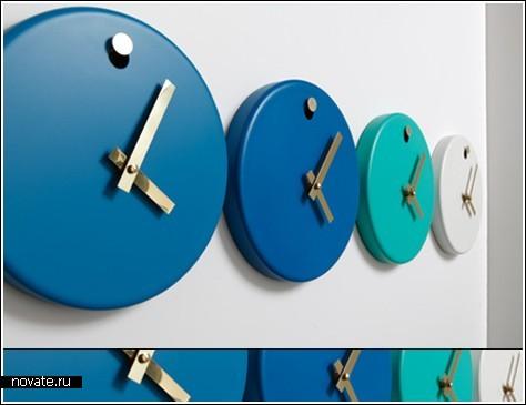 Часы в стиле минимализма от Paul Loebach