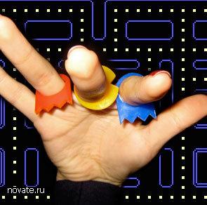Колечки для фанатов игры Pac-man