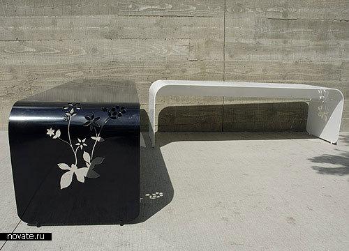 Скамейки для выставки ICFF