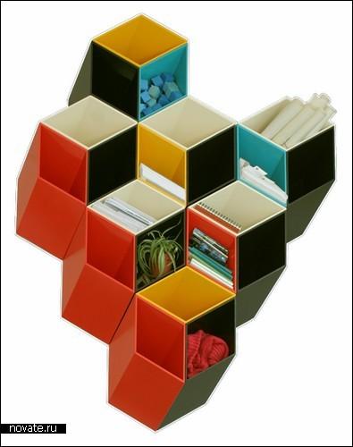 Полка с ящиками-ромбиками «Ime#252;ble»