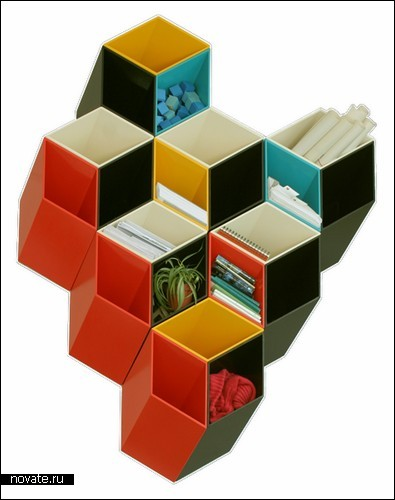 Полка с ящиками-ромбиками «Imeüble»
