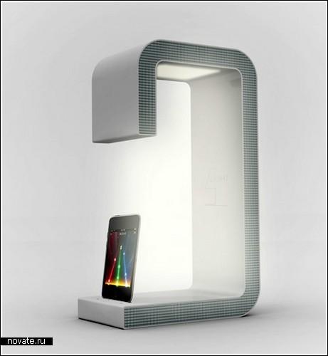 Лампа + зарядное устройство + динамик для плеера