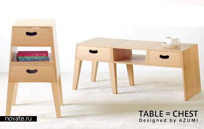 Японская мебель реально экономит место в доме!