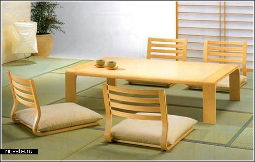 Японский минимализм в мебели