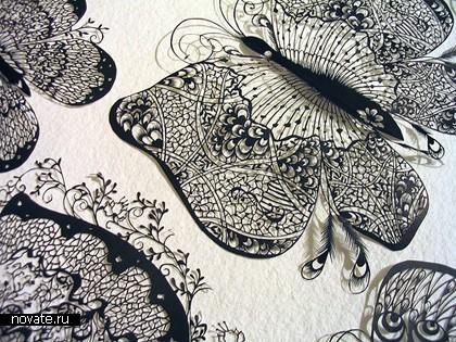 Искусство вырезать из бумаги от Hina Aoyama