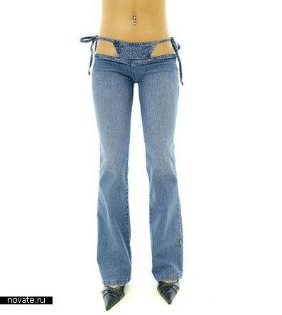 Стринги джинсы