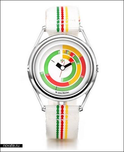Часы от Crispin Jones - вместо секунд и минут у них мировые рекорды