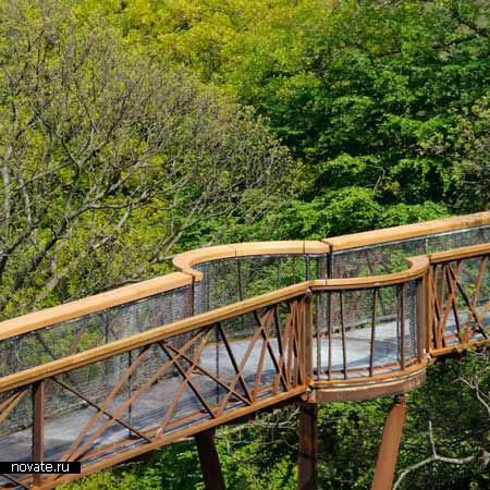 Мост в Королевском ботаническом саду в Лондоне