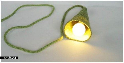 Связанная вручную лампа