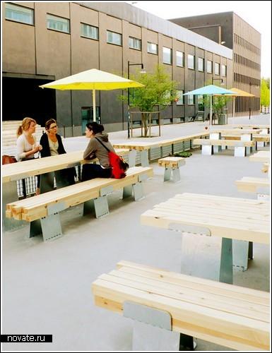 Неровные скамейки от студентов-дизайнеров из Швеции