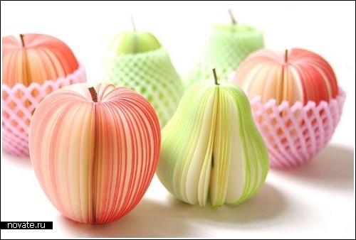 Стикеры-яблоки, стикеры-груши