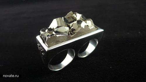 Кольца с минералами