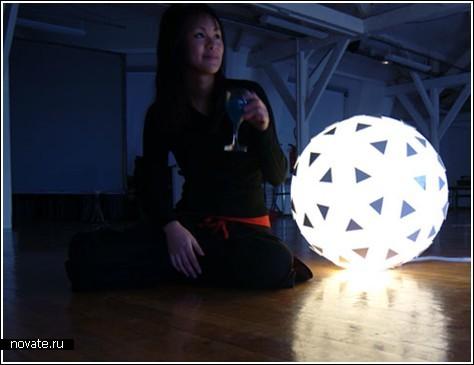 Надувная лампа-шар «Lampad'air»