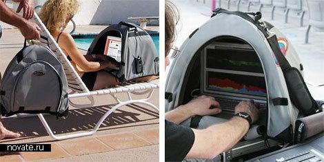 Домик, защищающий ноутбук в жару