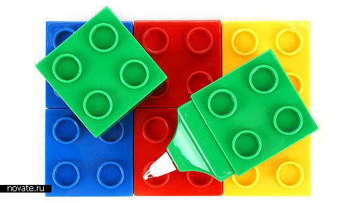 Замазки в виде кубиков Лего