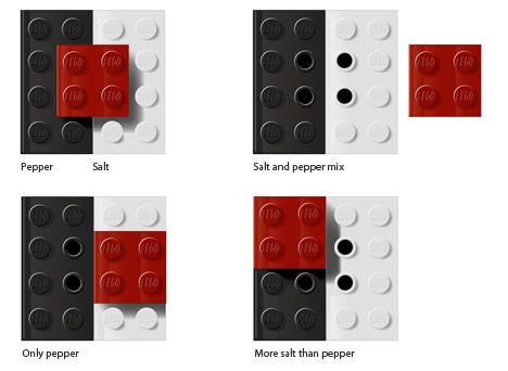 солонка и перечница из Лего