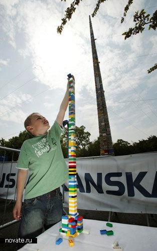 Самая высокая башня в мире из кубиков Лего