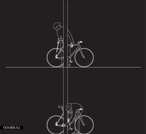 Велосипед с фонариком и замком