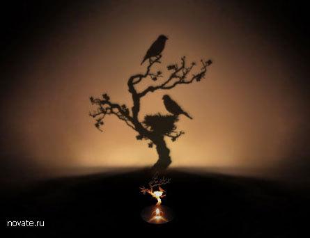 Лампа, оставляющая чудесные тени