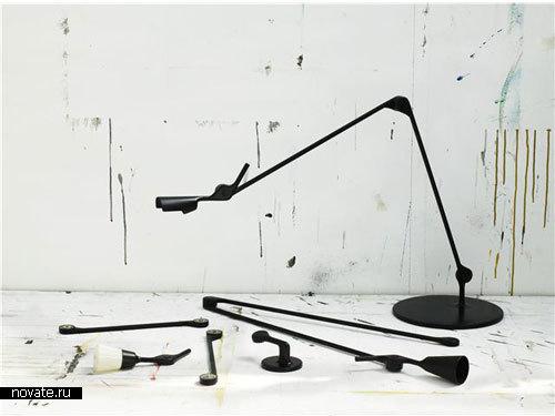 Лампа, изменяющая свою длину