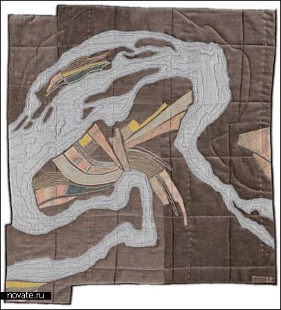 Стеганое одеяло с картой в придачу