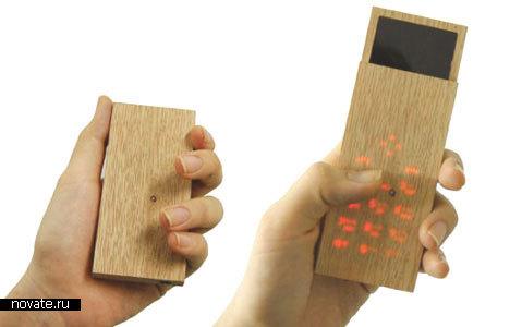 Деревянный мобильный телефон