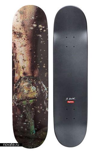 «Модные» скейтборды от Marilyn Minter