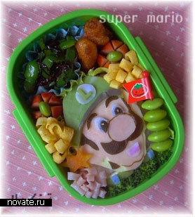 Бэнто в виде Марио