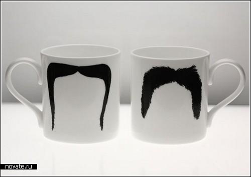 Усатые чашки от Peter Bruegger