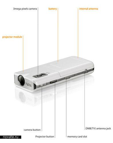 Концепт мобильного телефона с проектором