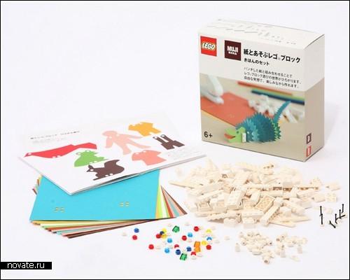 Конструктор Lego + аппликация от Muji