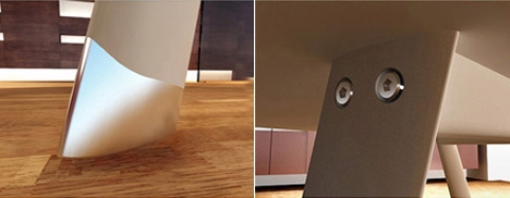 вертящийся стол от Franco Marino Cagnina