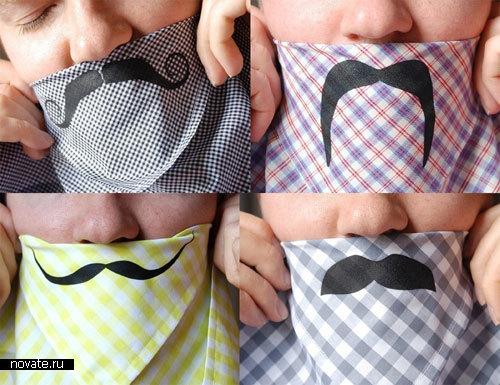 «Усатые» носовые платки