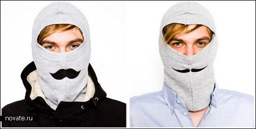 Усатая маска для лыжников