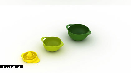Разноцветные плошки-матрешки