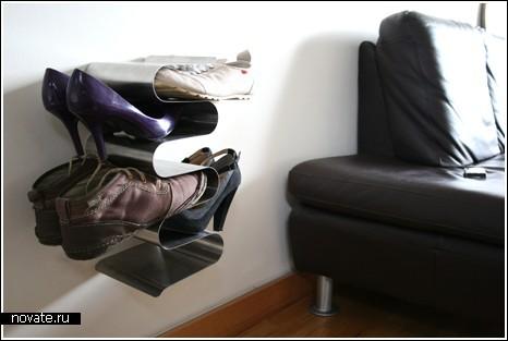Волнистая полка для обуви