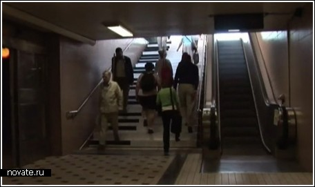 Музыкальная лестница в Стокгольме