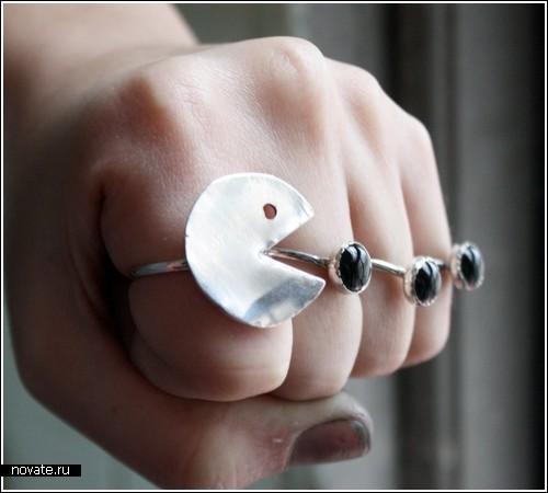 Кольца для фанатов Pacman'а