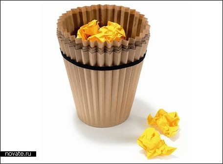 Одноразовая корзина для мусора.