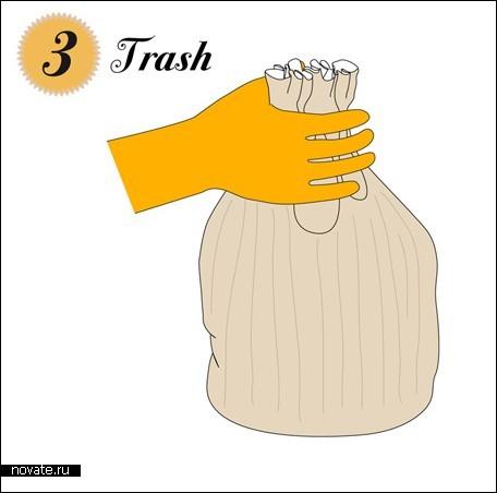 Много бумажных пакетов = мусорное ведро