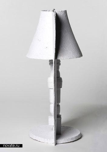 Самодельная лампа из пенопласта