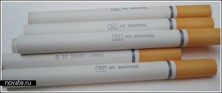 Сигареты-карандаши и спички-ластики