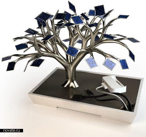 Зарядное устройство в виде дерева