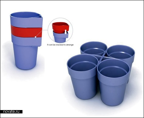 Восемь чашек в двух руках