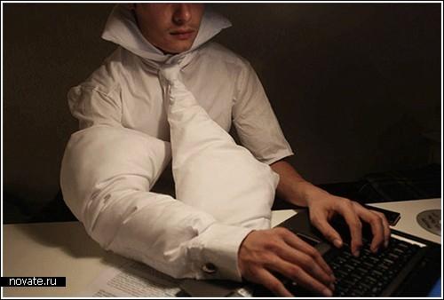 Подушка-костюм для тех, кто работает по ночам
