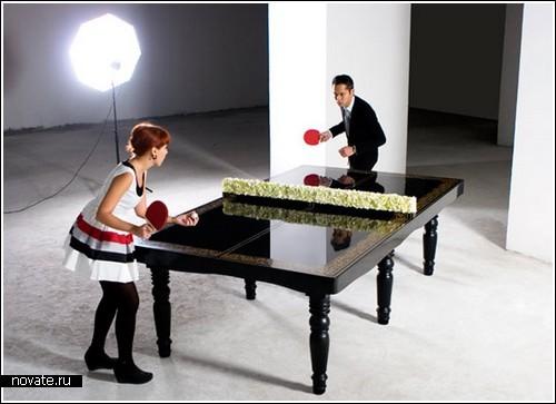 Обеденный стол для игры в настольный теннис