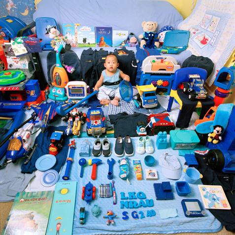 Детская комната в голубом стиле