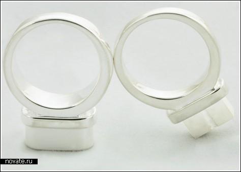 Кольца с «розеткой и штепселем» для влюбленных