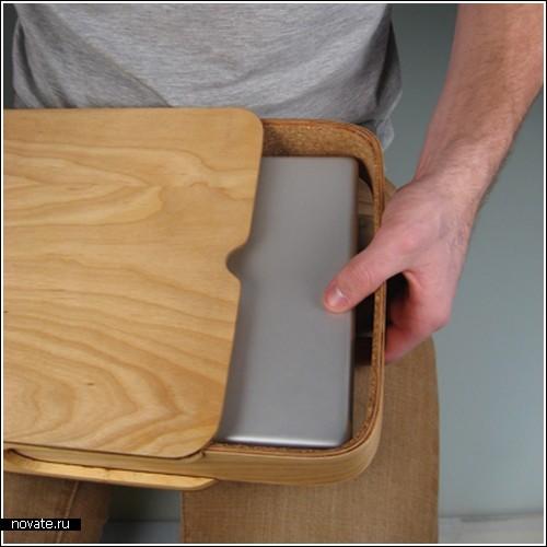 Деревянный кейс для ноутбука
