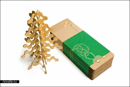 «Золотая» елка из фанеры